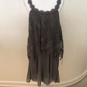 NWT pretty angel crochet & chiffon sleeve dress